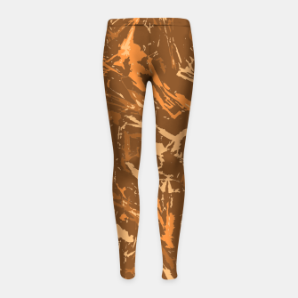 Miniaturka Camo in Brown Girl's leggings, Live Heroes
