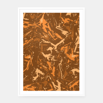 Thumbnail image of Camo in Brown Framed poster, Live Heroes