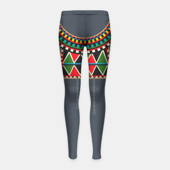 Miniaturka Tribal Collar Girl's leggings, Live Heroes