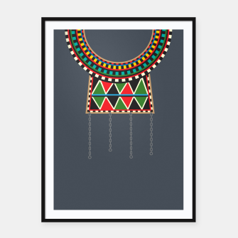 Thumbnail image of Tribal Collar Framed poster, Live Heroes