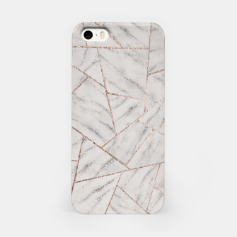 Miniatur White Marble Silver Glitter Geometric Glam #1 (Faux Glitter) #geo #decor #art iPhone-Hülle, Live Heroes