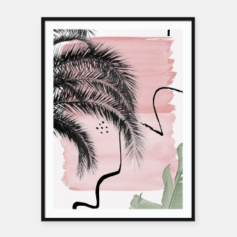 Miniaturka Banana Palms Abstract - Naturelle #2 #minimal #wall #decor #art  Plakat mit rahmen, Live Heroes