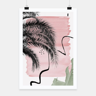 Miniaturka Banana Palms Abstract - Naturelle #2 #minimal #wall #decor #art  Plakat, Live Heroes