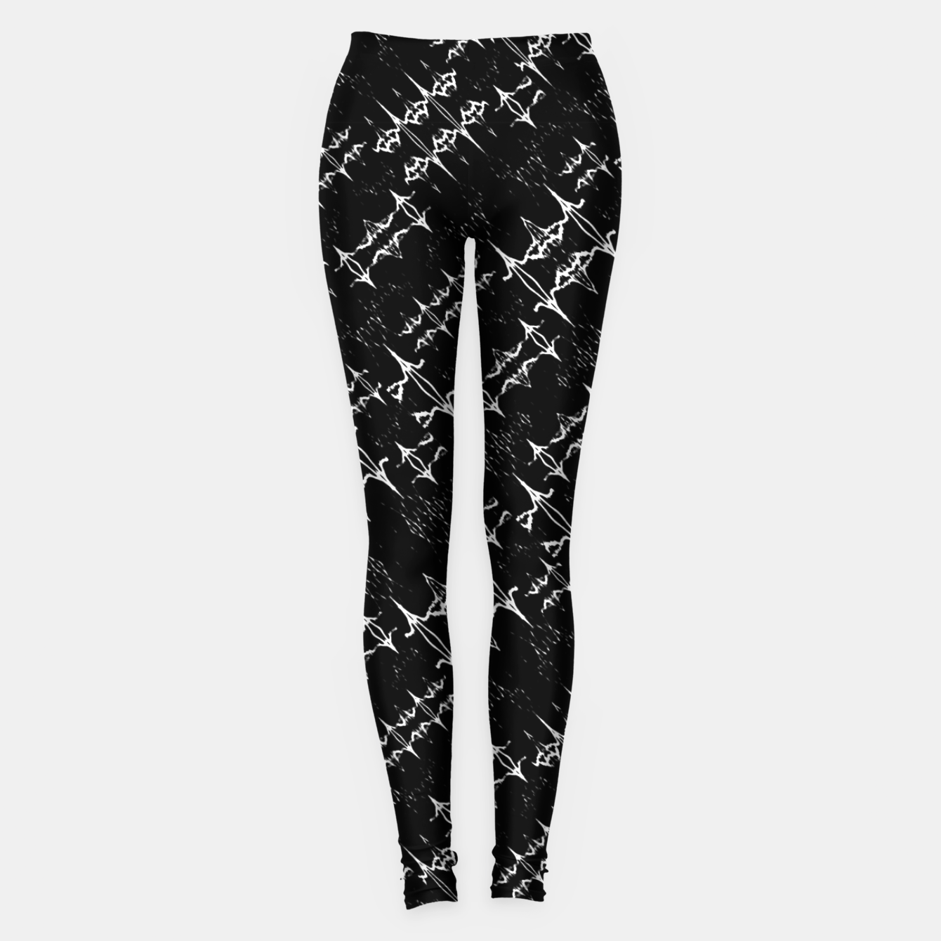 Zdjęcie Black and White Ethnic Geometric Pattern Leggings - Live Heroes