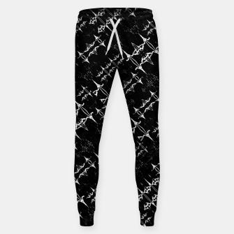 Black and White Ethnic Geometric Pattern Sweatpants obraz miniatury