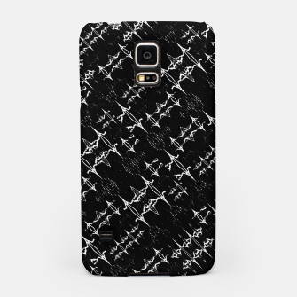 Black and White Ethnic Geometric Pattern Samsung Case obraz miniatury