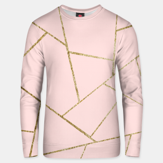 Miniaturka Blush Pink Gold Geometric Glam #1 #geo #decor #art Unisex sweatshirt, Live Heroes