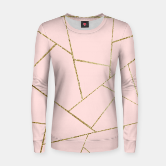 Miniaturka Blush Pink Gold Geometric Glam #1 #geo #decor #art Frauen sweatshirt, Live Heroes