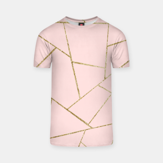Miniaturka Blush Pink Gold Geometric Glam #1 #geo #decor #art T-Shirt, Live Heroes