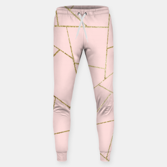 Miniaturka Blush Pink Gold Geometric Glam #1 #geo #decor #art Hosen, Live Heroes
