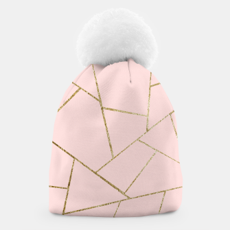Miniaturka Blush Pink Gold Geometric Glam #1 #geo #decor #art Mütze, Live Heroes