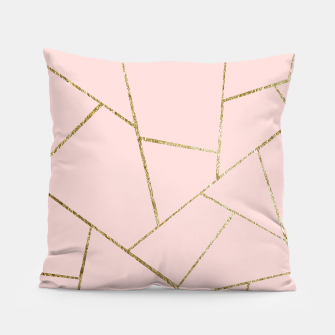 Miniaturka Blush Pink Gold Geometric Glam #1 #geo #decor #art Kissen, Live Heroes