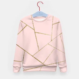 Miniaturka Blush Pink Gold Geometric Glam #1 #geo #decor #art Kindersweatshirt, Live Heroes