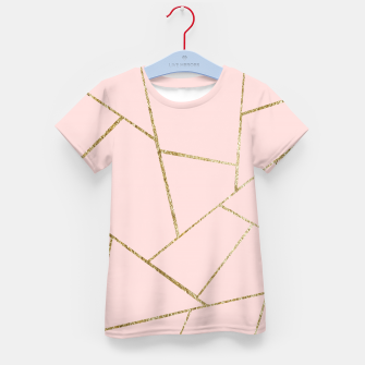 Miniaturka Blush Pink Gold Geometric Glam #1 #geo #decor #art T-Shirt für kinder, Live Heroes