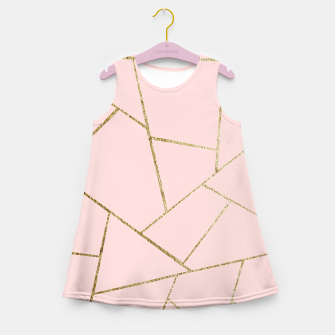 Thumbnail image of Blush Pink Gold Geometric Glam #1 #geo #decor #art Mädchen-Sommerkleid, Live Heroes