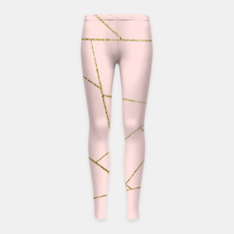 Miniaturka Blush Pink Gold Geometric Glam #1 #geo #decor #art Kinder-Leggins, Live Heroes