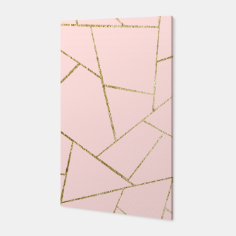 Miniaturka Blush Pink Gold Geometric Glam #1 #geo #decor #art Canvas, Live Heroes