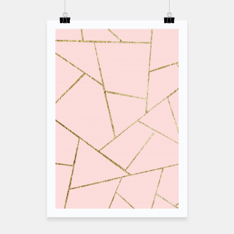 Miniaturka Blush Pink Gold Geometric Glam #1 #geo #decor #art Plakat, Live Heroes