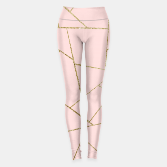 Miniaturka Blush Pink Gold Geometric Glam #1 #geo #decor #art Leggings, Live Heroes