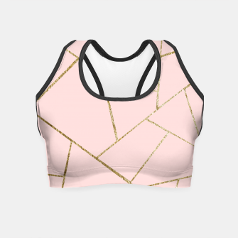 Miniaturka Blush Pink Gold Geometric Glam #1 #geo #decor #art Crop Top, Live Heroes