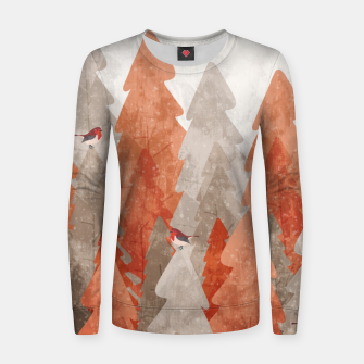 Thumbnail image of The robins and the forest Women sweater, Live Heroes