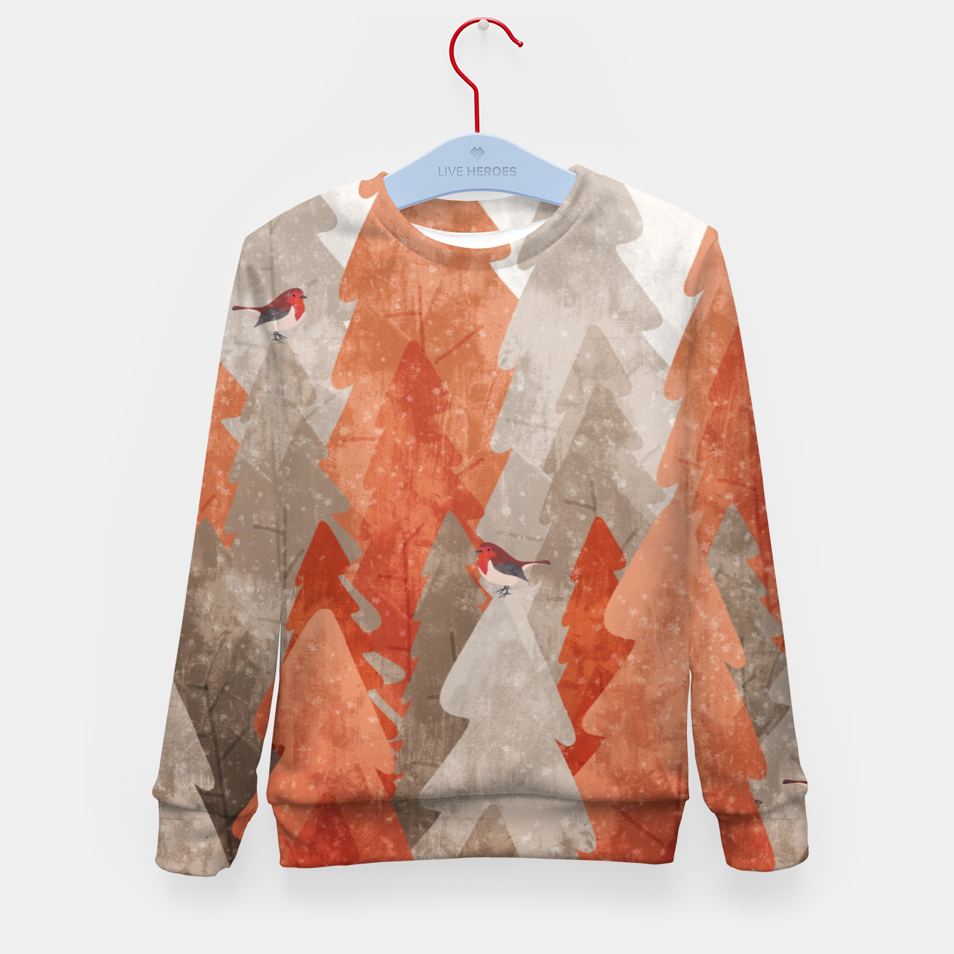 Image of The robins and the forest Kid's sweater - Live Heroes
