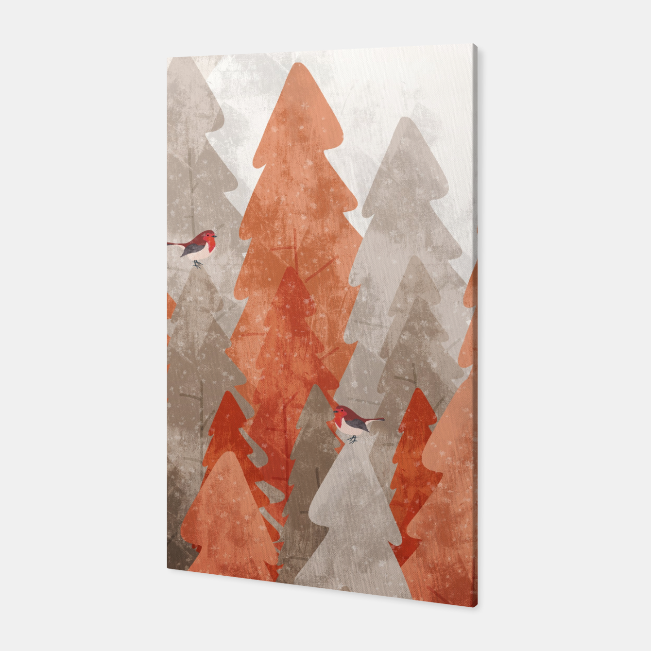 Image of The robins and the forest Canvas - Live Heroes