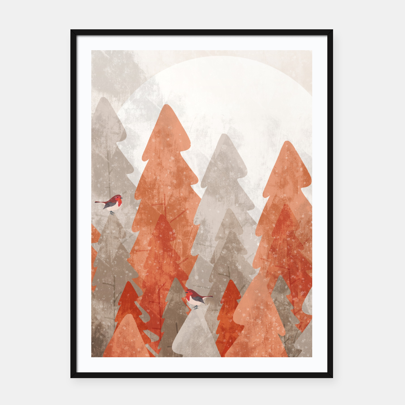 Image of The robins and the forest Framed poster - Live Heroes