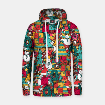 Thumbnail image of Merry Christmas pattern Hoodie, Live Heroes