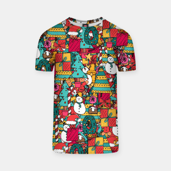 Thumbnail image of Merry Christmas pattern T-shirt, Live Heroes
