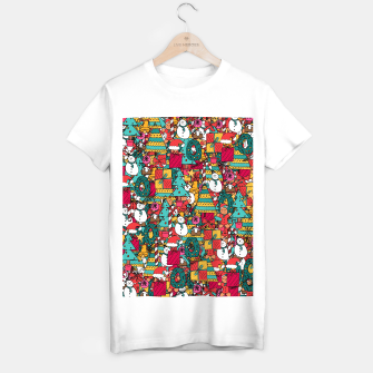 Thumbnail image of Merry Christmas pattern T-shirt regular, Live Heroes