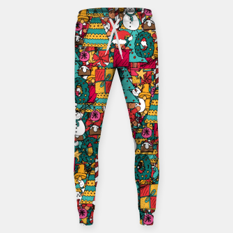 Thumbnail image of Merry Christmas pattern Sweatpants, Live Heroes