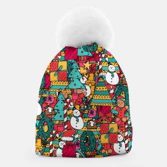 Miniatur Merry Christmas pattern Beanie, Live Heroes