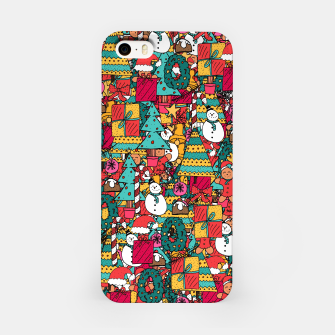 Merry Christmas pattern iPhone Case thumbnail image