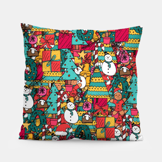 Thumbnail image of Merry Christmas pattern Pillow, Live Heroes