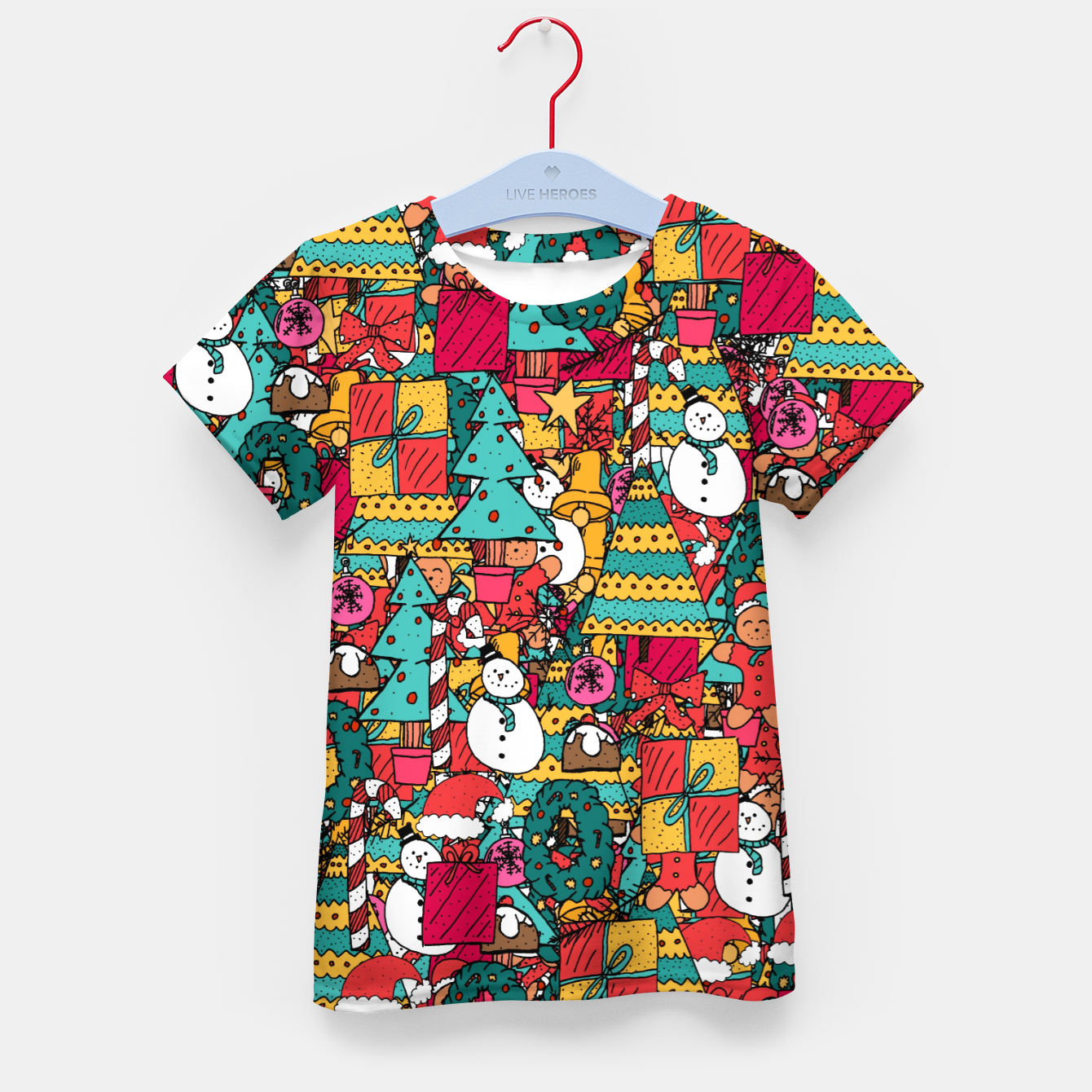Image of Merry Christmas pattern Kid's t-shirt - Live Heroes