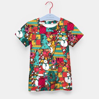 Thumbnail image of Merry Christmas pattern Kid's t-shirt, Live Heroes