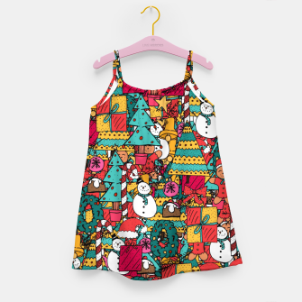 Thumbnail image of Merry Christmas pattern Girl's dress, Live Heroes