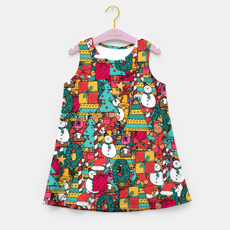 Thumbnail image of Merry Christmas pattern Girl's summer dress, Live Heroes