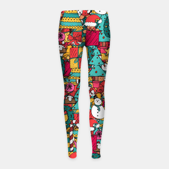 Thumbnail image of Merry Christmas pattern Girl's leggings, Live Heroes