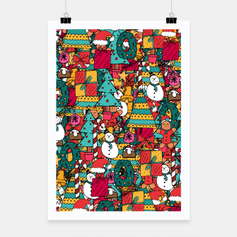 Thumbnail image of Merry Christmas pattern Poster, Live Heroes