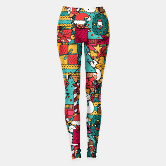 Thumbnail image of Merry Christmas pattern Leggings, Live Heroes