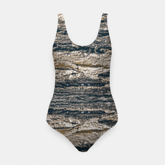 Thumbnail image of Surface Texture Print Swimsuit, Live Heroes