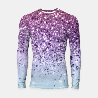 Thumbnail image of Unicorn Girls Glitter #6 (2019 Version - Faux Glitter) #shiny #pastel #decor #art  Longsleeve rashguard, Live Heroes