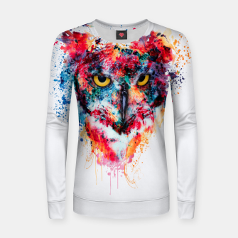 Thumbnail image of Owl Women sweater, Live Heroes