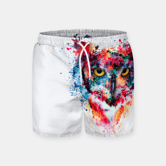 Thumbnail image of Owl Swim Shorts, Live Heroes