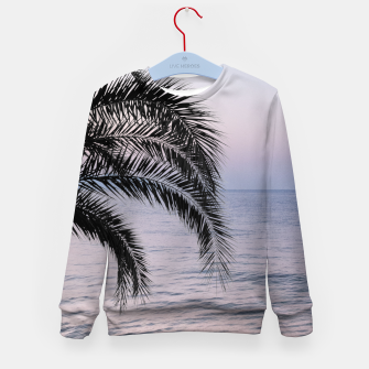Thumbnail image of Palm & Ocean Dream #3 #tropical #pastel #wall #decor #art Kindersweatshirt, Live Heroes