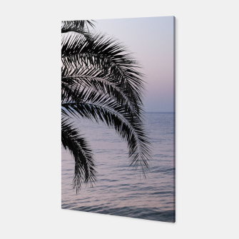 Thumbnail image of Palm & Ocean Dream #3 #tropical #pastel #wall #decor #art Canvas, Live Heroes
