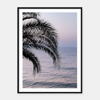 Thumbnail image of Palm & Ocean Dream #3 #tropical #pastel #wall #decor #art Plakat mit rahmen, Live Heroes