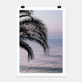Thumbnail image of Palm & Ocean Dream #3 #tropical #pastel #wall #decor #art Plakat, Live Heroes